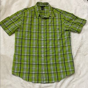 Marmot Short Sleeve Button Down Shirt green M